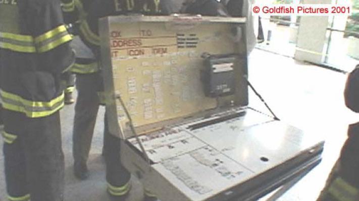 Puesto de Mando en hall WTC-1